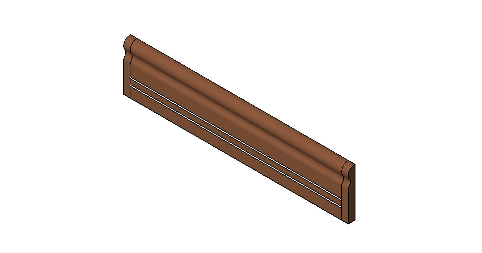 Chair Rail Revit Part - 30: Impact-Resistant Wall Protection: Chair Rail: CRW 10