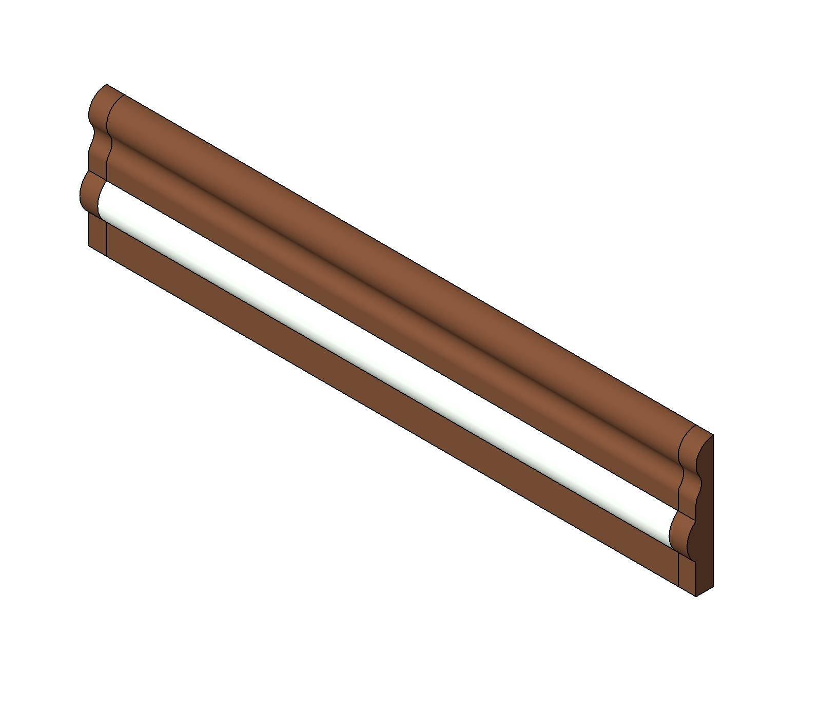 Chair Rail Revit Part - 25: Pawling Corp., Architectural Products Div. BIM Content