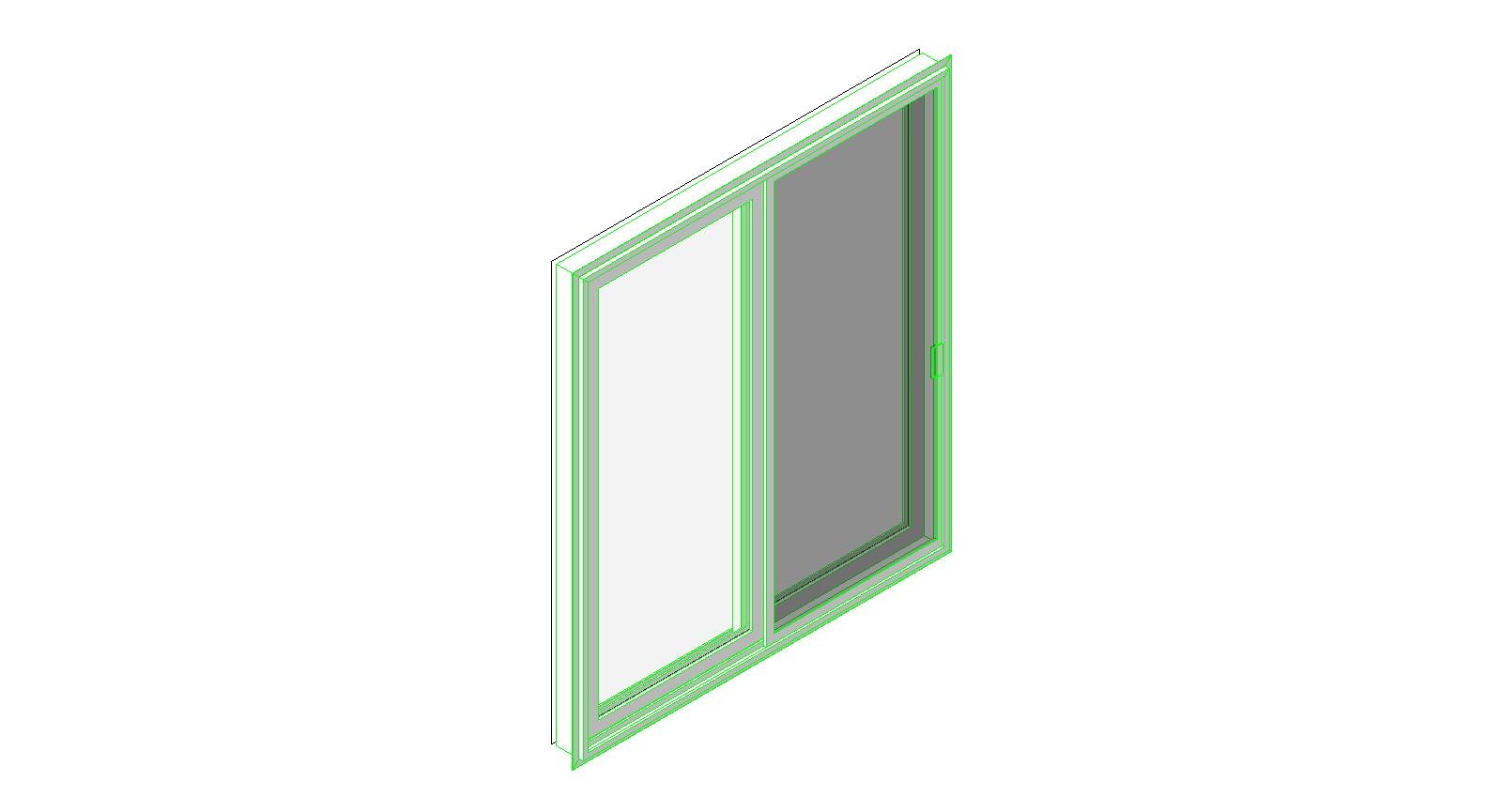 Atrium windows and doors sliding plastic doors bim objects for Window object