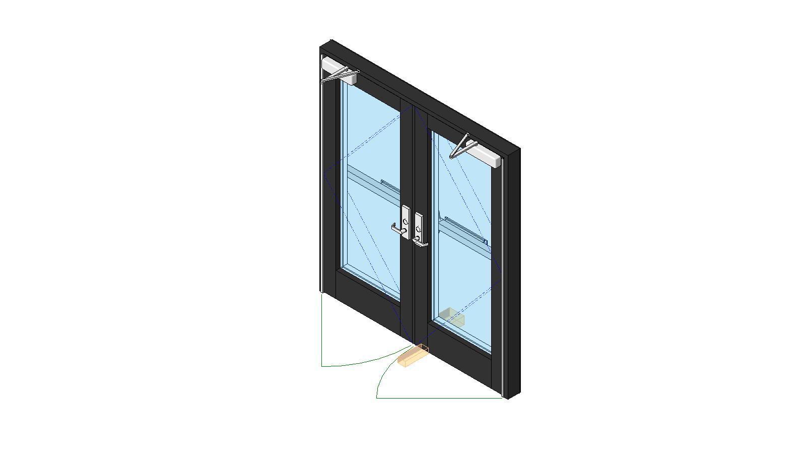 architectural aluminum swinging door could lean