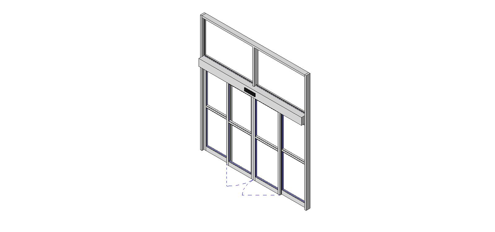 Bim objects families for Sliding window wall