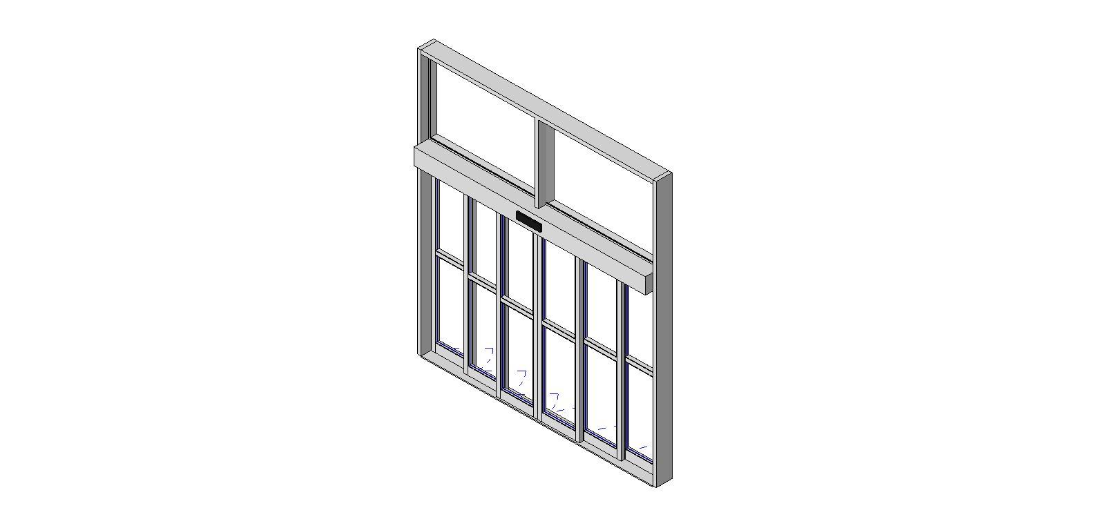 Curtain wall sliding door revit for Sliding window wall