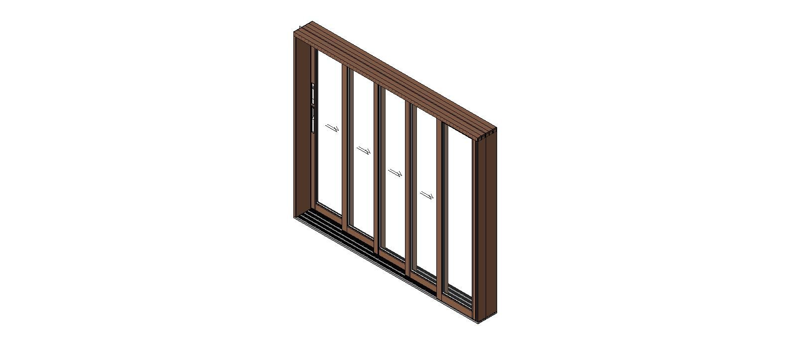 Western window systems aluminum windows bim objects families for Multiple sliding glass doors
