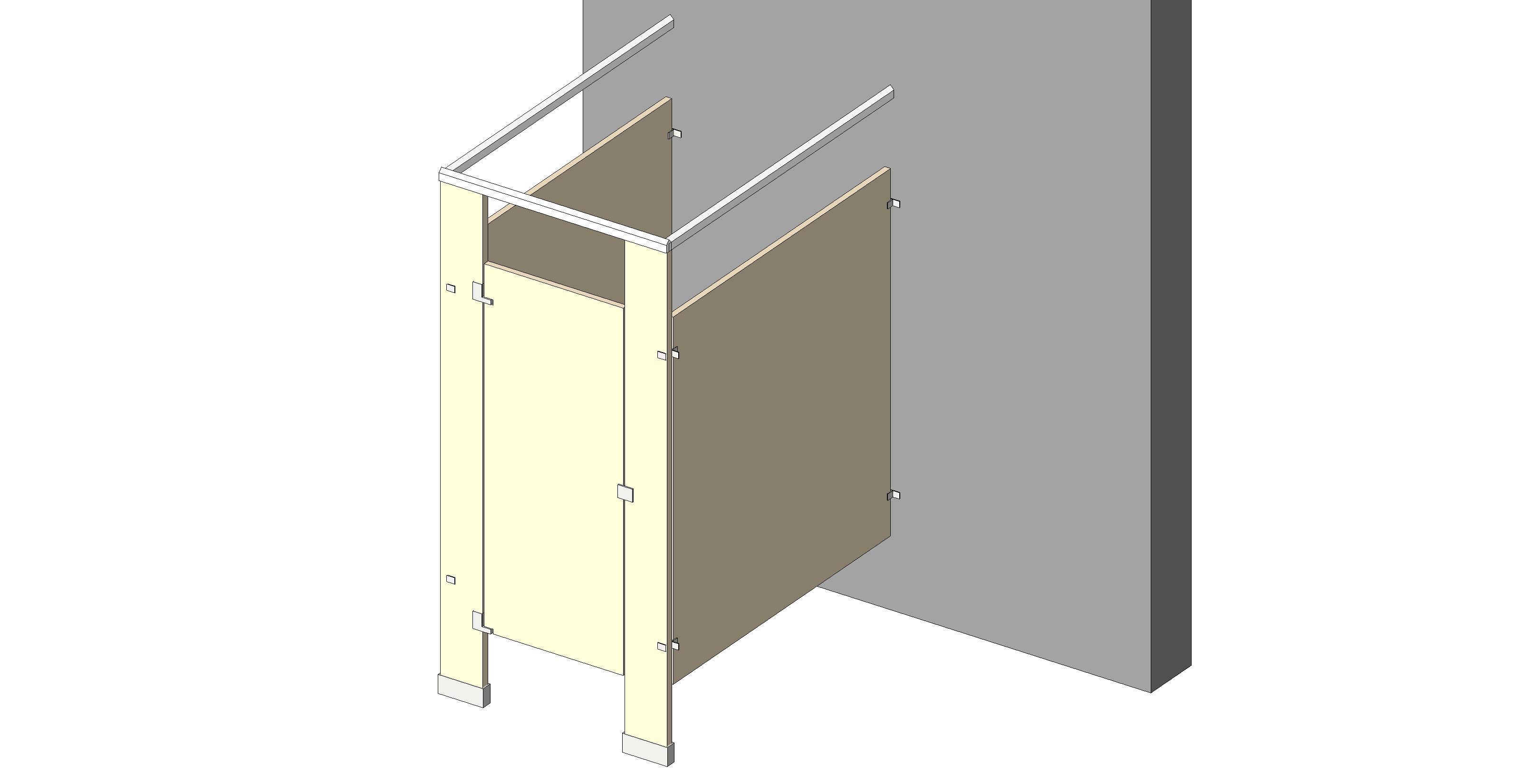Bathroom Stalls Revit bim objects / families