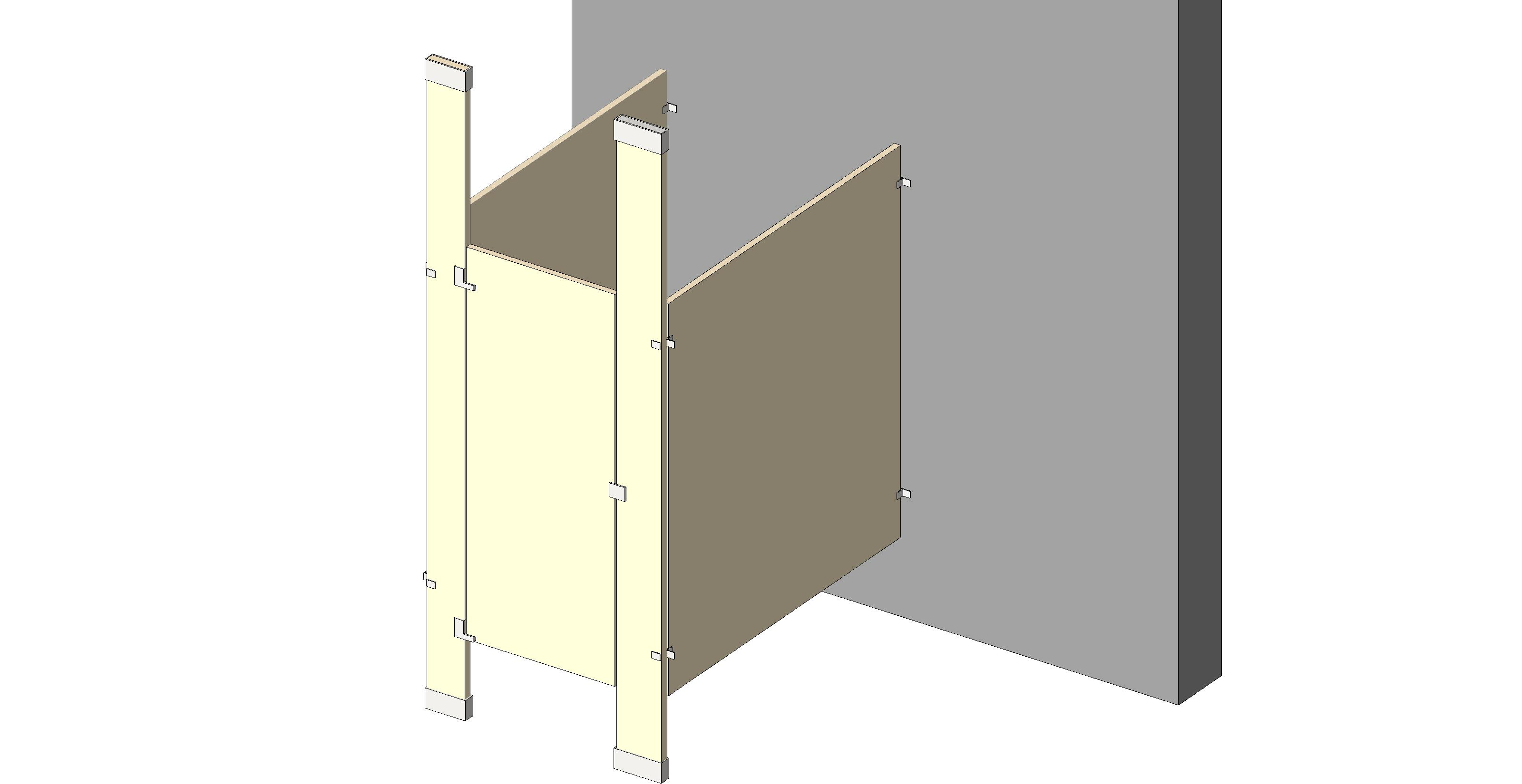 Bathroom Partitions Manufacturers bim objects / families
