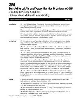<!-- 020 -->3015 Self-Adhered Statements of Material Compatibility