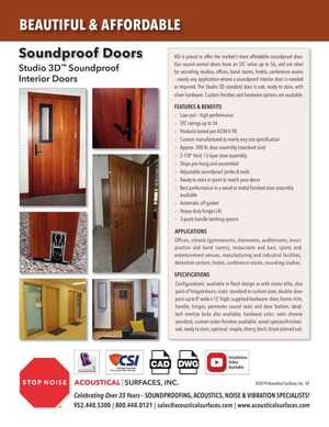 <!-- 018 -->Sound Proof Doors