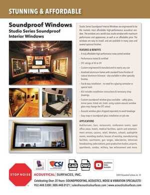 <!-- 019-->Sound Proof Windows