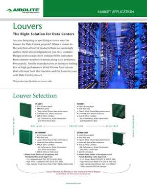 <!-- 022 -->Louvers for Data Centers