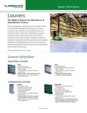 <!-- 024 -->Louvers for Warehouse & Distribution Centers