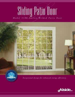Sliding Patio Door - Model 5100