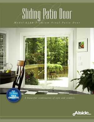 Sliding Patio Door - Model 6100