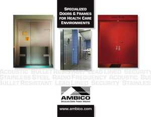 Specialized Doors & Frames for Health Care Environments