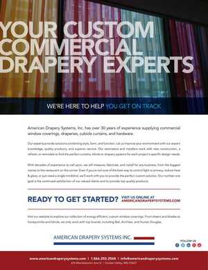 Custom Commercial Drapery Experts