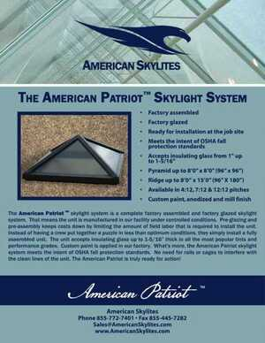 <!-- 011 -->The American Patriot Skylight System