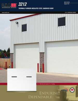 <!-- 014 -->Insulated Sandwich Doors - Model 3212