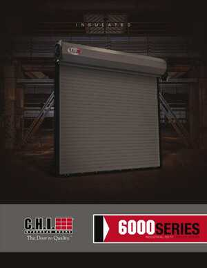 <!-- 024 -->Rolling Steel Insulated Service Doors - Series 6000