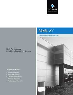 <!-- 056 -->Panel 20 - Two Piece Molding System