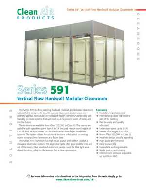 <!-- 011 -->Hardwall Modular Cleanrooms - CAP591