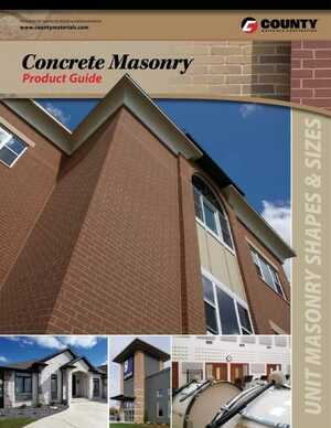 <!-- 014 -->Concrete Masonry Product Guide