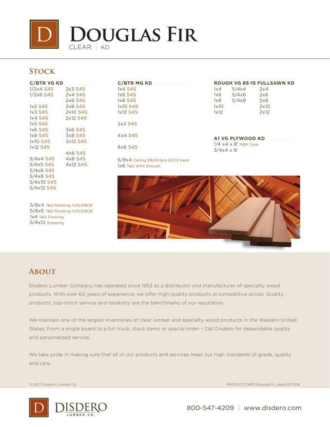 www arcat com/catalogs/disdero/douglasfir-brochure