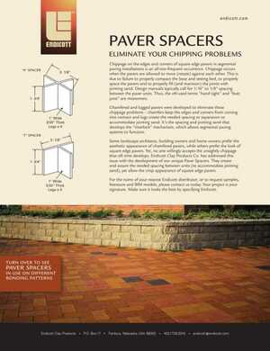 <!-- 032 -->Paver Spacers