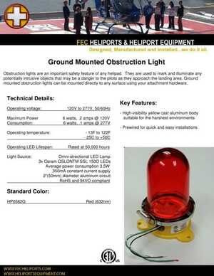 <!-- 016 -->Ground Mounted Obstruction Light
