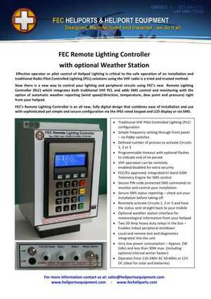 <!-- 022 -->Remote Lighting Controller with Optional Weather Station