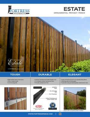 <!-- 016 -->ESTATE Ornamental Privacy Fence