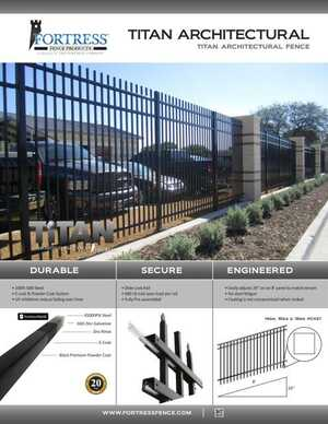 <!-- 012 -->Titan Architectural Fence