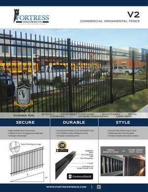 <!-- 010 -->V2 Commercial Ornamental Fence