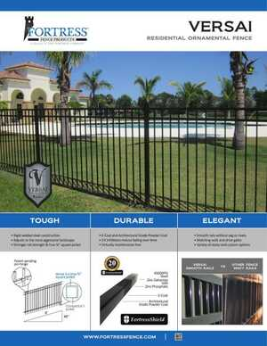 <!-- 018 -->VERSAI Ornamental Residential Fence