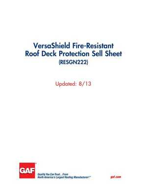 <!-- 035 -->VersaShield Fire-Resistant Roof Deck Protection Sell Sheet