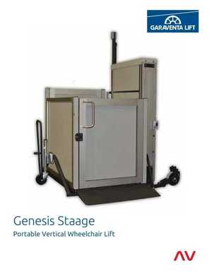 <!-- 032 -->Genesis STAAGE Portable Vertical Lift