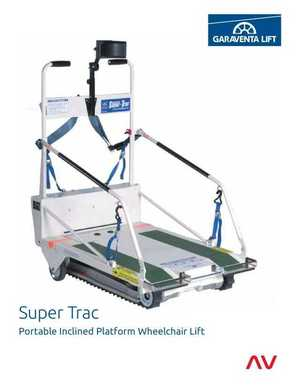 <!-- 034 -->Super-Trac Portable Inclined Platform Wheelchair Lift