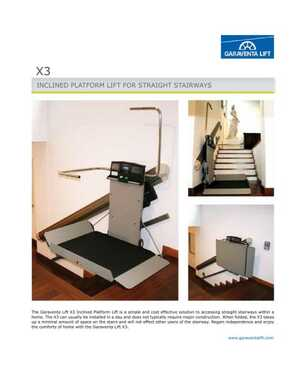 X3 Residential Battery Powered Inclined Platform Lift