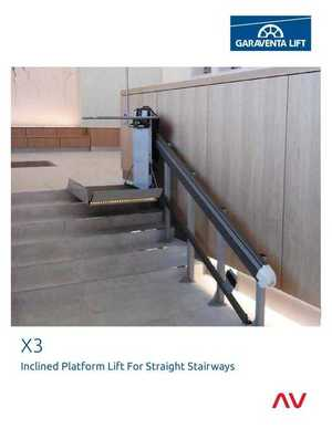 X3 Inclined Platform Lift for Straight Stairways
