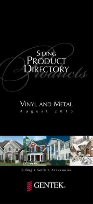 Siding Product Directory