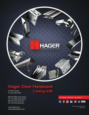 <!-- 013 -->Door Hardware Catalog