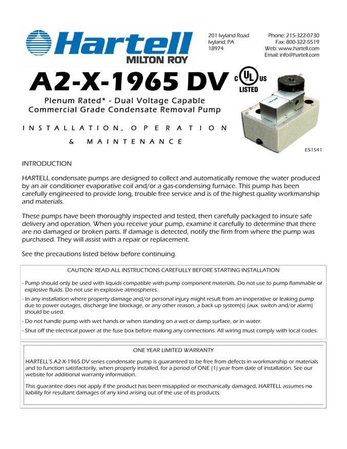 hartell condensate pump wiring diagram arcat  arcat