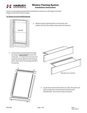 <!-- 040 -->Window Panning Systems - Installation Instructions
