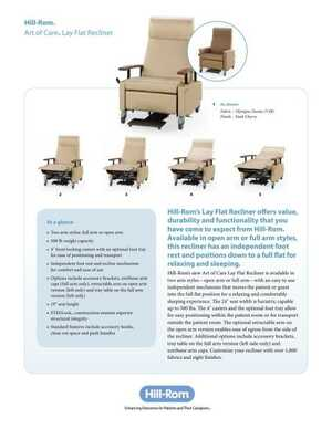 Art of Care Lay Flat Recliner