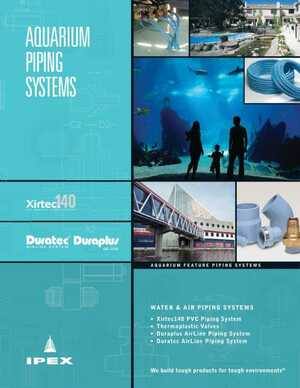 Application Brochure - Aquarium Piping Systems