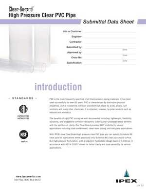 Submittal Datasheet - ClearGuard