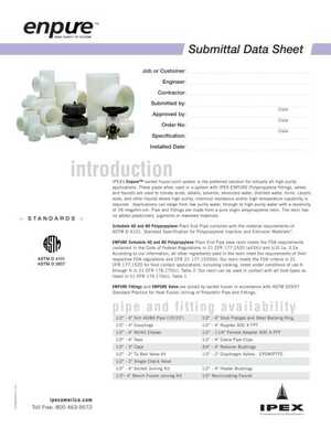 Submittal Datasheet - IPEX Enpure High Purity PP