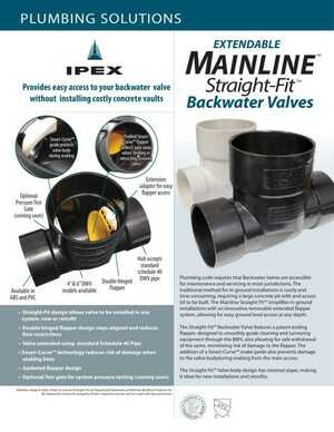 Mainline Straight-Fit Backwater Valves