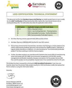 LEED Technical Statement