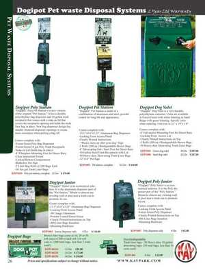 <!-- 058 -->Pet Waste Stations