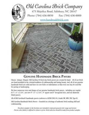 Pavers Brochure