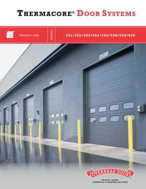 Thermacore Insulated Sectional Doors